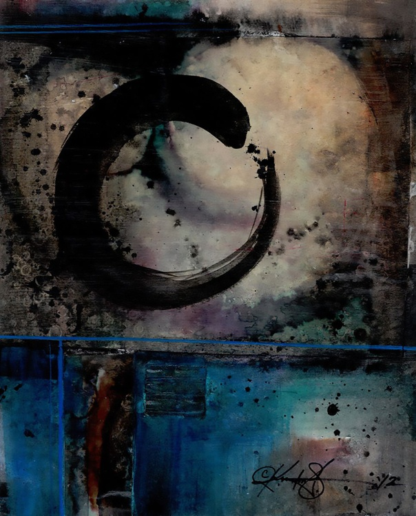 Abstract Painting - Enso, Zen Circle - Being Within Series.. Enso . No.4 - Image 0