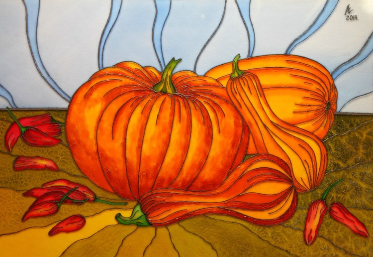 Still life with pumpkins - Image 0