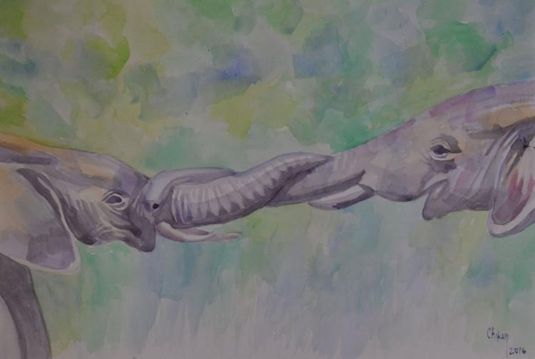 TWO FRIENDS ELEPHANTS - Image 0