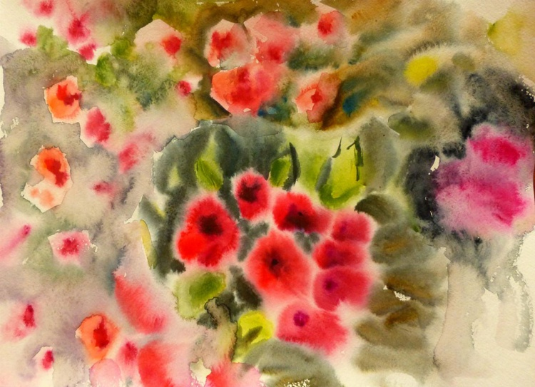 I remember a wonderful moment ..., watercolor painting 42x30 cm - Image 0