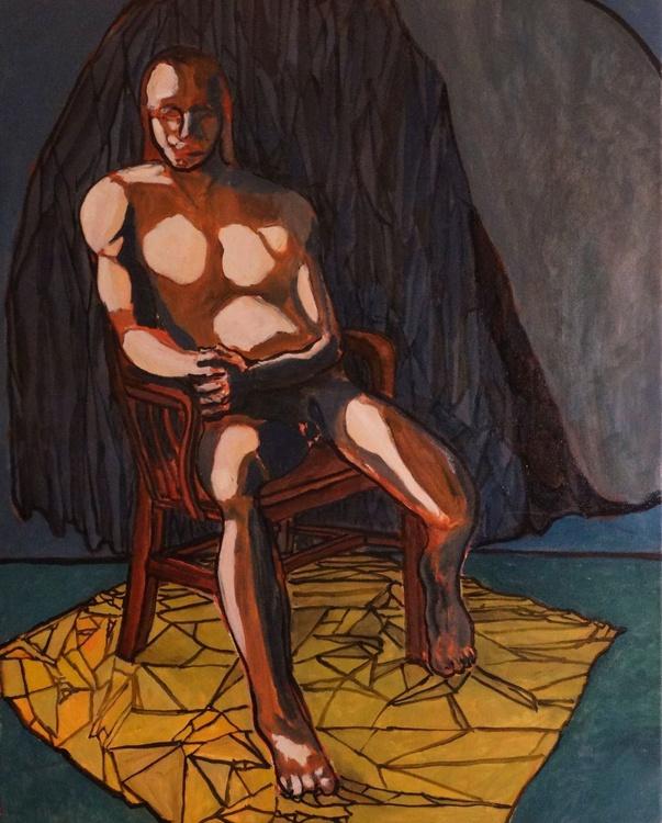 Nude Man Seated - Image 0