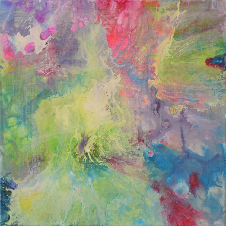Fog in the Forest - Abstract Painting - Ready to Hang, Hotel and Restaurant Wall Decoration - Image 0