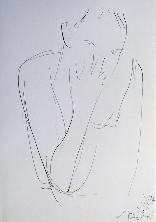 Pensive #1, 29x42 cm - Image 0