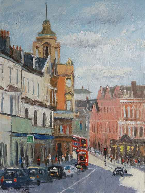 Lavender Hill towards Clapham Junction, London