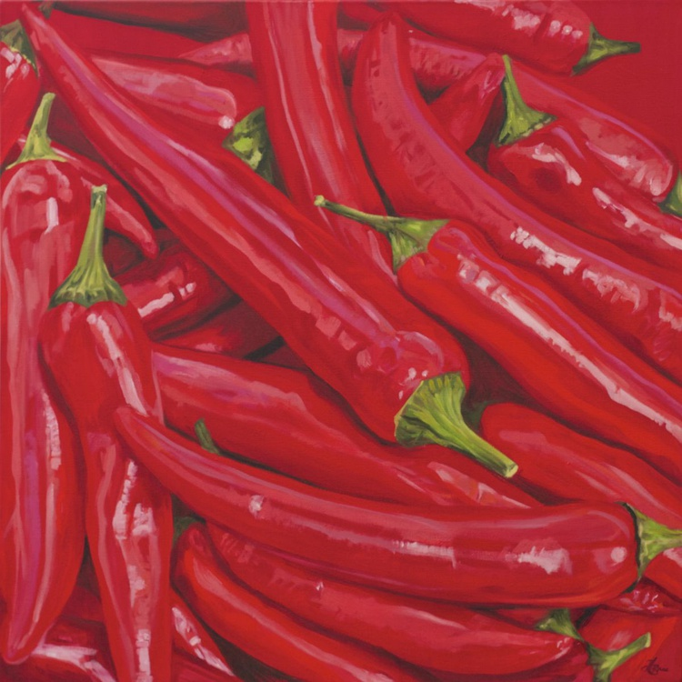 Chillies in Deep Red II - Image 0