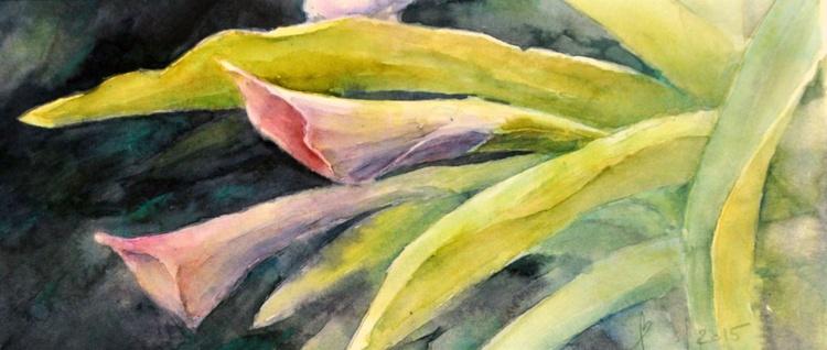 CALLA - TROPIC FLOWERS original watercolour - Image 0