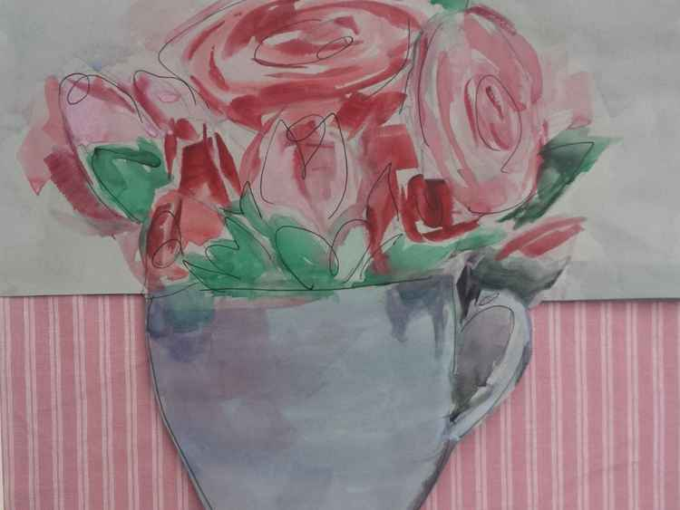 Roses in a cup -