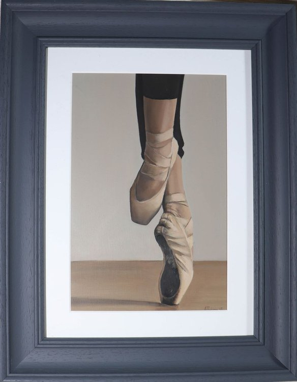 En Pointe, Dance, Ballet Dancer Shoes, Oil Paint   Artfinder