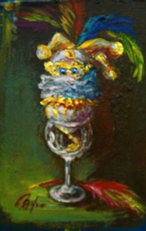 Toy in a wine glass - Image 0