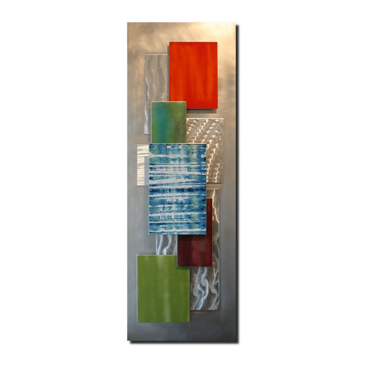 Summer Sky | Coastal Colors Art - Abstract Wall Sculpture - Beachy Wall Art - Layered Metal Contemporary Artwork - Image 0