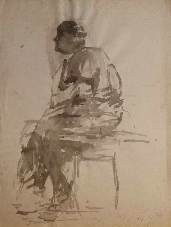 Anger, ink on paper 65x50 cm - Image 0