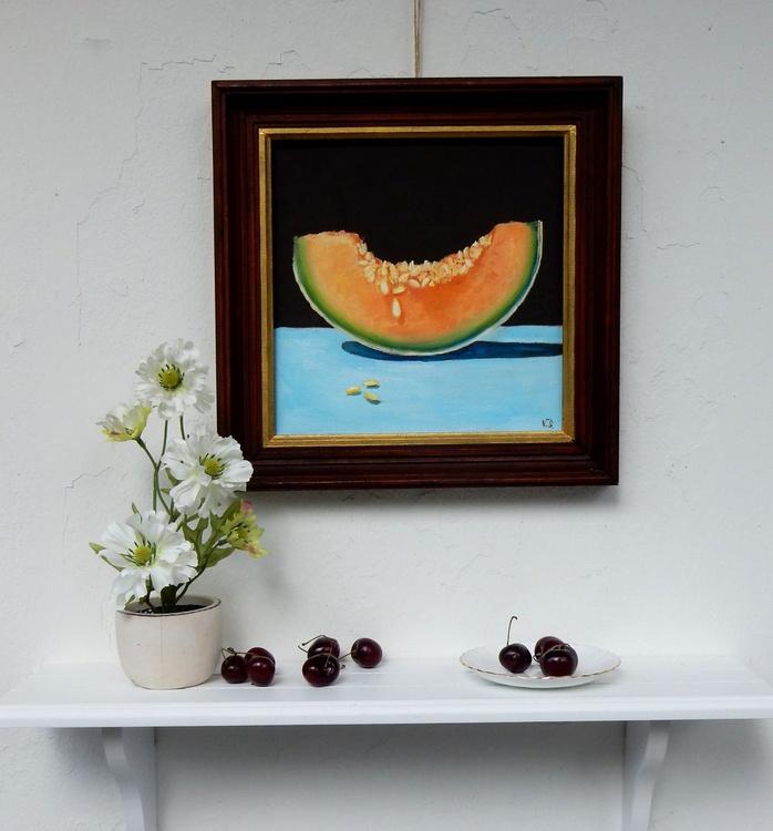 Juicy melon. Still life, 25x25cm - Image 0