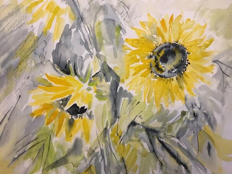 Autumn Yellow Sunflowers - Image 0