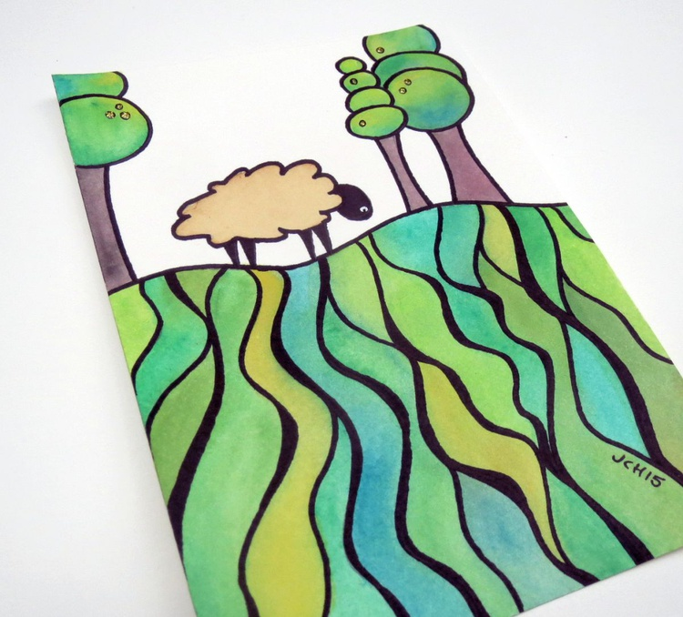 Sheep On A Hill: #5 - Image 0