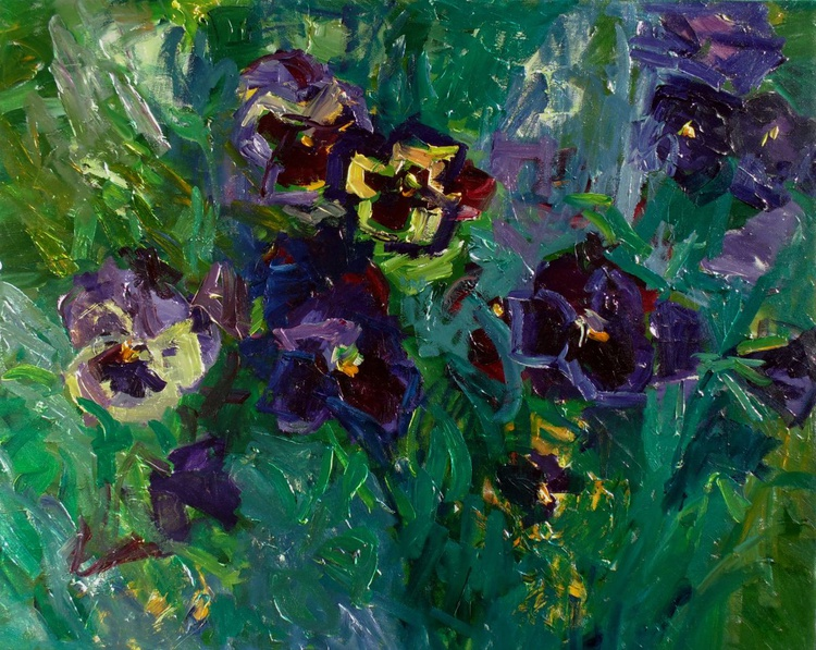 Morning conversation with pansies - Image 0