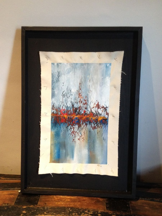 Heading Home - Original One of a Kind Abstract Landscape Oil Painting - Image 0
