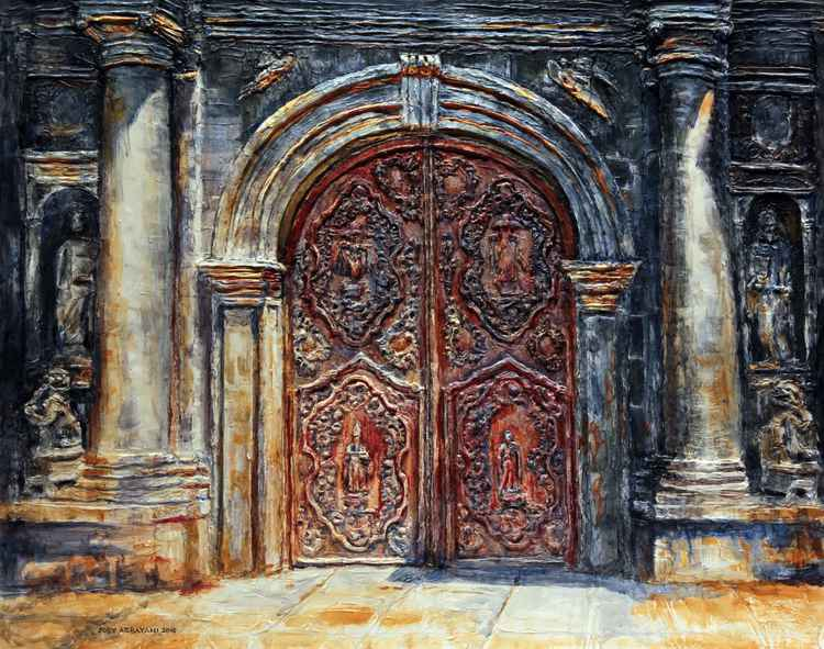 San Agustin Church Entrance -
