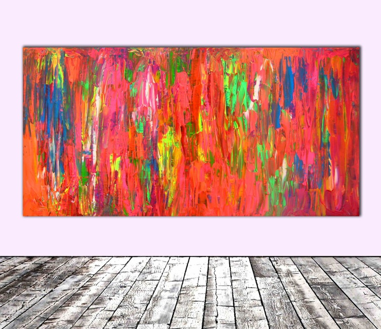 Dischromy nr. 1 - 100x50 cm - FREE SHIPPING - Large Painting - Ready to Hang, Office, Hotel Wall Decor - Image 0