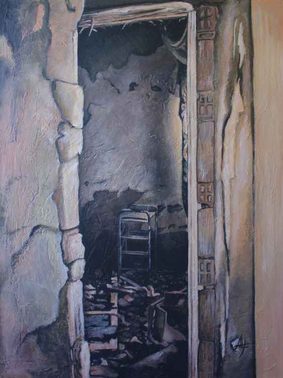 """CROLLO (part of the """"Conza: ruins"""" series of 7 paintings) -"""
