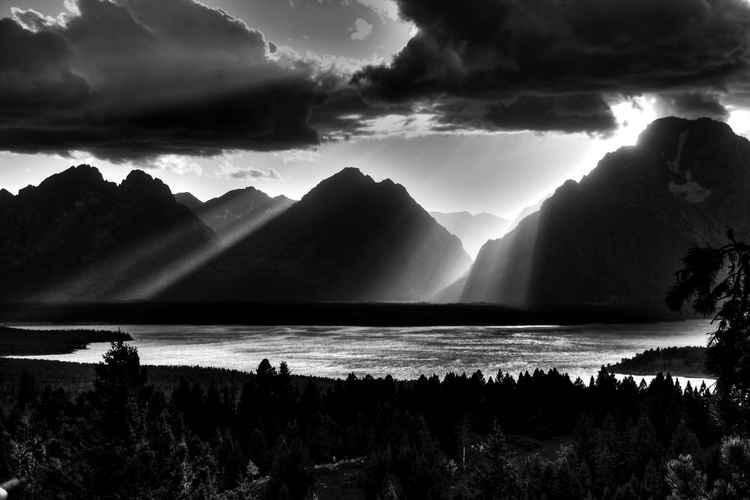 Grand Teton Light Beams