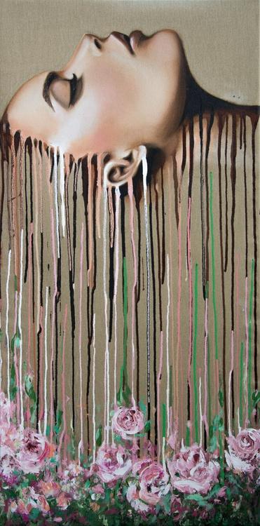 """Arousal"", original acrylic painting, 50x100 cm, ready to hang - Image 0"