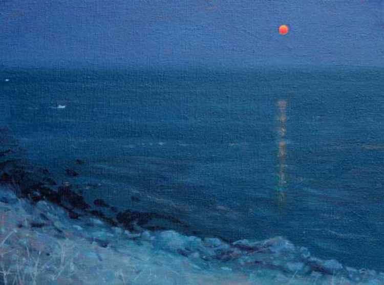Moonrise Off Algarve Coast -