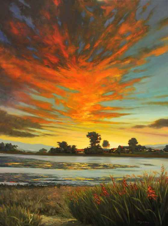 Sunset in Bolinas Lagoon -