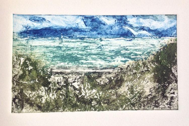 Running Tide, Handmade Collagraph Print - Image 0