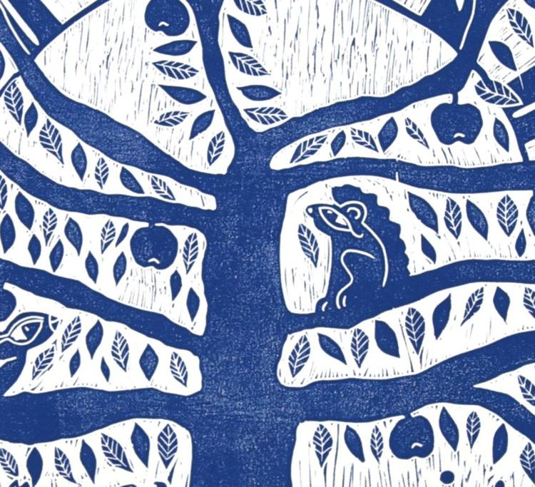 Tree of Life linocut - Image 0
