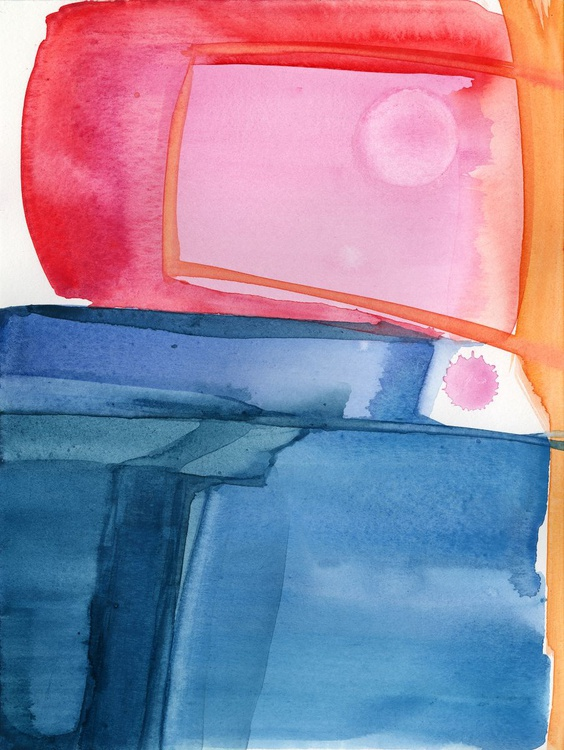 In Harmony 17 - Abstract Zen Watercolor Painting - Image 0