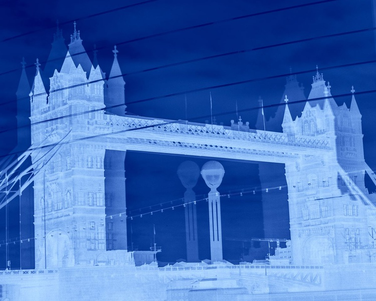 "TOWER BRIDGE DOUBLE VISION NEG : BLUE (Limited edition  1/200 10""X8"") - Image 0"