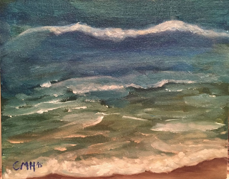 Daily Painting: Bradenton Beach Breaking Waves - Image 0