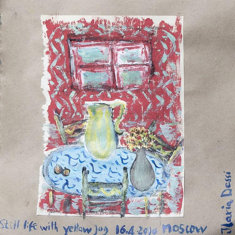 Still life with yellow jug - Image 0