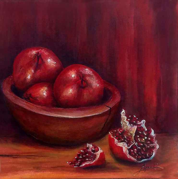 Still life No. 4 Pomegranates