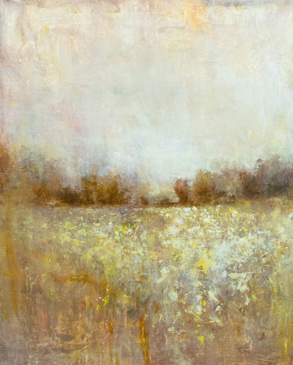 Gold And White 24x30 inches - Image 0