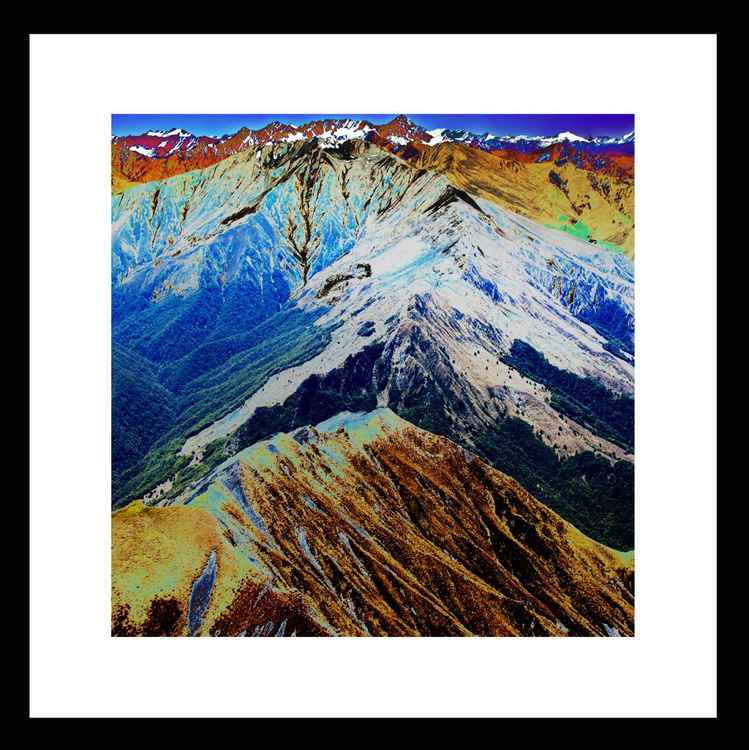 Natural Abstracts - Southern Alps New Zealand - Mini -