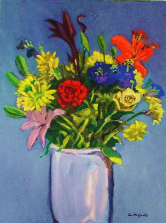 Flowers in White VaseII/FREE SHIPPING