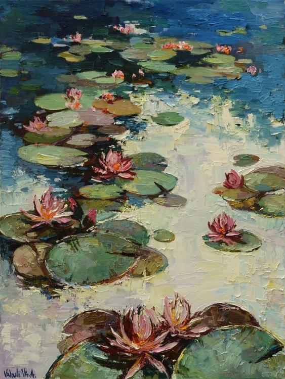 Water lilies Original Oil painting - Image 0