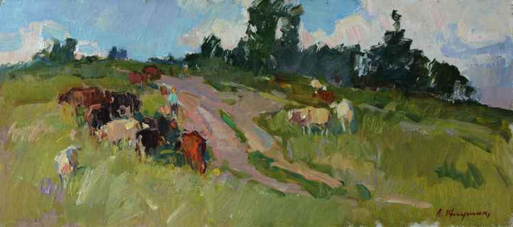 On the summer pasture -