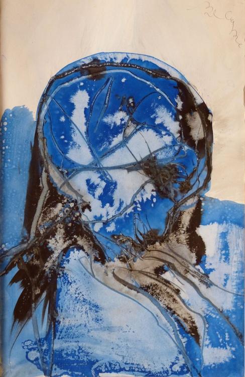 Ink on Paper #290, 32x50 cm - Image 0