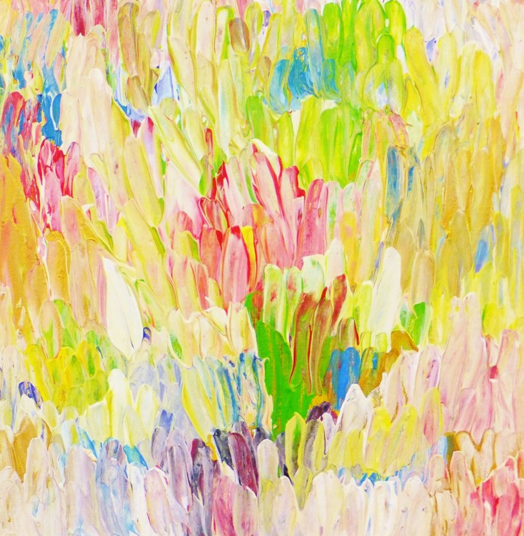 """Original abstract""""Composition (Spring)"""" original painting,highly textured,decorative ,home deco,gift idea from Christina Reiter - Image 0"""