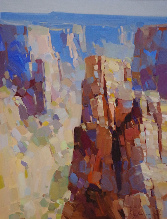 Grand Canyon - Arizona, Landscape oil painting, 18x24 One of a kind, Signed, Hand Painted - Image 0