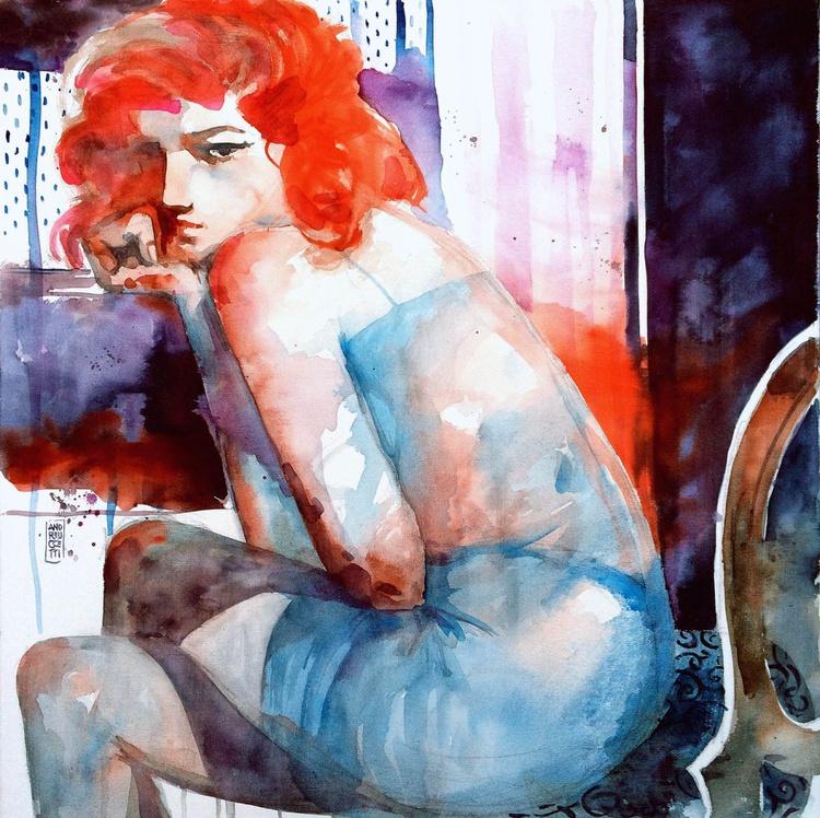 Ragazza seduta alla finestra - Image 0