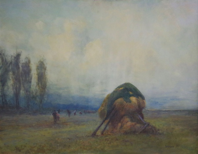 Landscape, Antique Style,  Original oil Painting, Handmade art, Impressionism, Signed, One of a Kind - Image 0