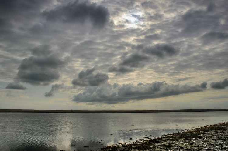 Clouds over Chesil Beach -