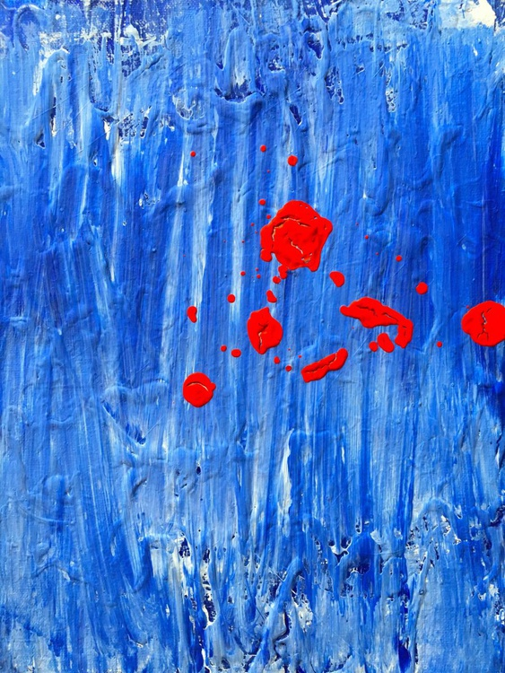 red on blue - Image 0