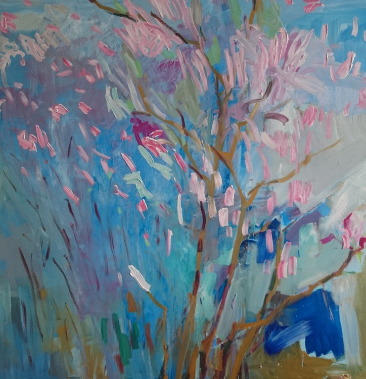 Blossoming spring. 100x100cm - Image 0