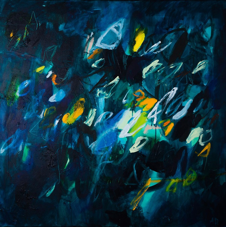 Sparkles 08 (80x80 cm, Acrylic Abstract, Ready to Hang) - Image 0