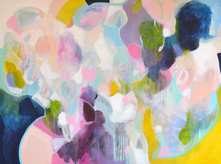 The Conversation - Large Abstract Painting - Image 0