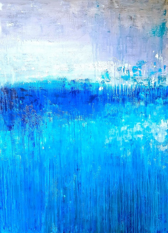 "Brilliant Blues 48""x36"" - Image 0"